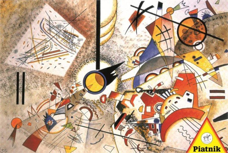 Puzzle PIATNIK 1000 dílků - W. Kandinsky: Chaotický akvarel 1923