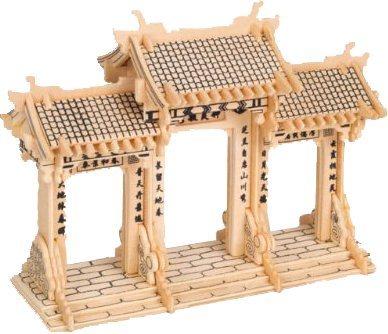 WOODEN TOY , WCK 3D puzzle Čínská brána