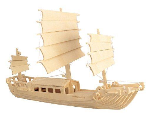 3D dřevěné puzzle Čínská plachetnice P045