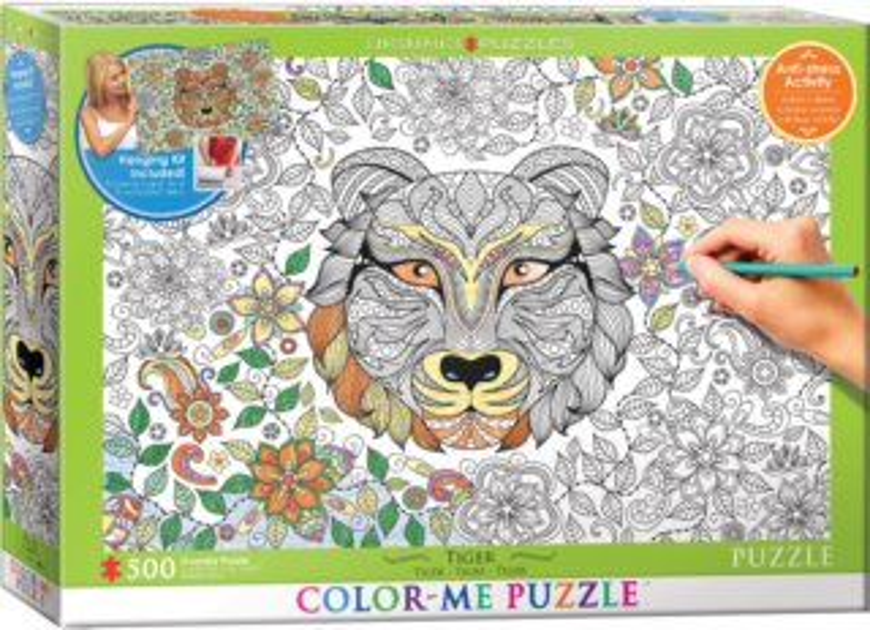 EUROGRAPHICS Color me puzzle Tygr 500 dílků + sada na zavěšení