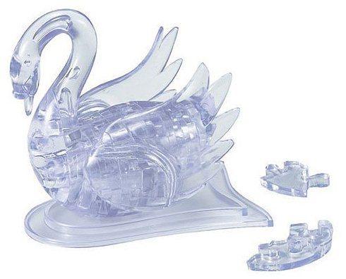 3D Crystal puzzle (krystalové puzzle) - Bílá labuť  44 dílků