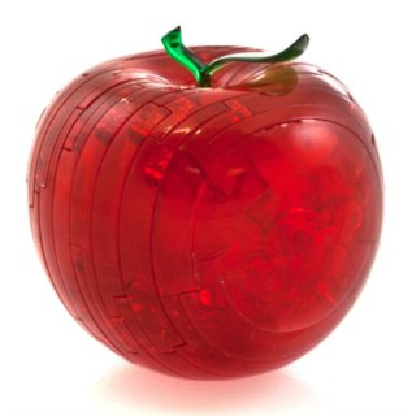 3D Crystal puzzle (krystalové puzzle) - Červené jablko 44 dílků