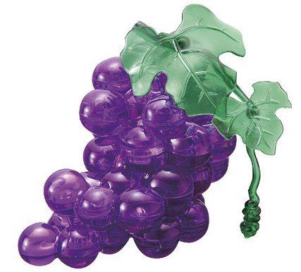 HCM KINZEL 3D Crystal puzzle Hroznové víno fialové 46 dílků