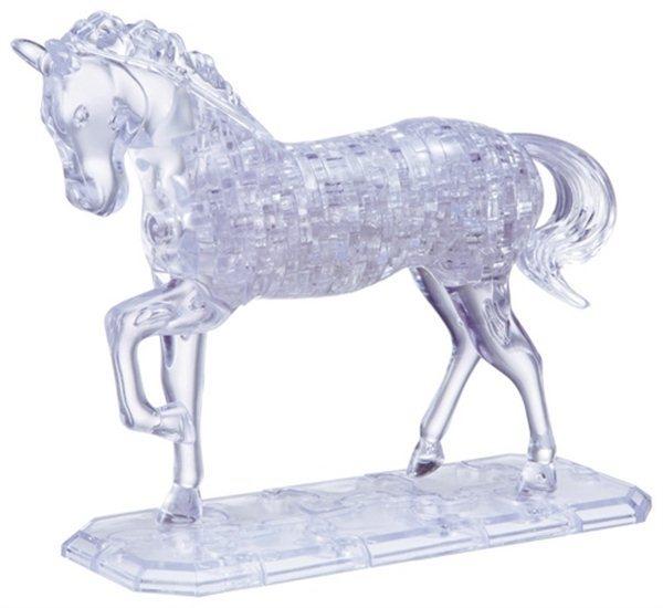 poškozený obal: 3D Crystal puzzle (krystalové puzzle) - Kůň 100 dílků