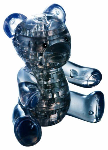 3D Crystal puzzle (krystalové puzzle) - Černý medvídek 41 dílků