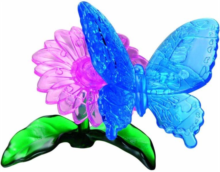 3D Crystal puzzle (krystalové puzzle) -  Motýl 38 dílků