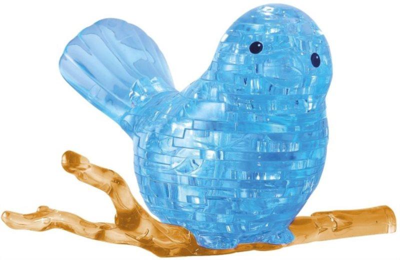 3D Crystal puzzle (krystalové puzzle) -  Ptáček 48 dílků
