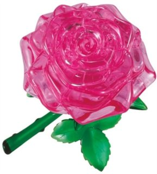 HCM KINZEL 3D Crystal puzzle Růže růžová 44 dílků