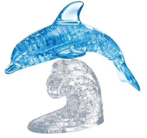 3D Crystal puzzle (krystalové puzzle) - Skákající delfín 95 dílků