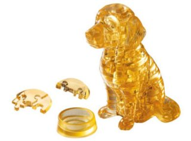 HCM KINZEL 3D Crystal puzzle Štěně zlatý retrívr 41 dílků