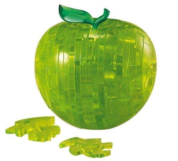 3D Crystal puzzle (krystalové puzzle) - Zelené jablko 44 dílků