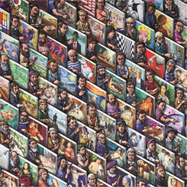 Čtvercové puzzle JUMBO 625 dílků - Malující malíří