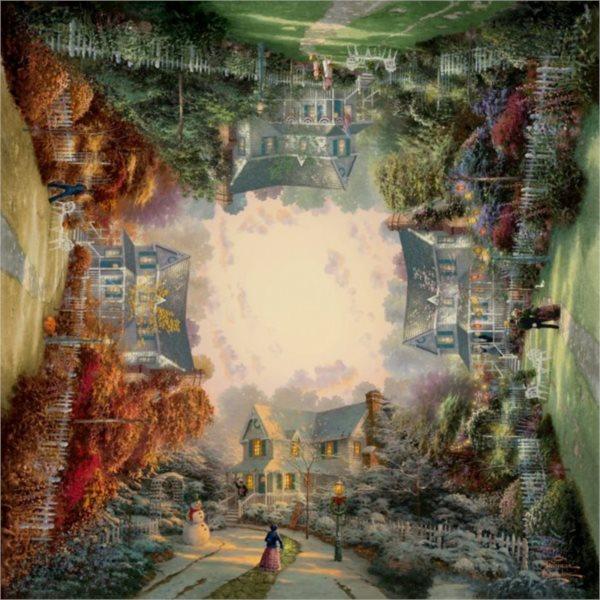 Čtvercové puzzle SCHMIDT 1000 dílků - T. Kinkade: Viktoriánská zahrada II