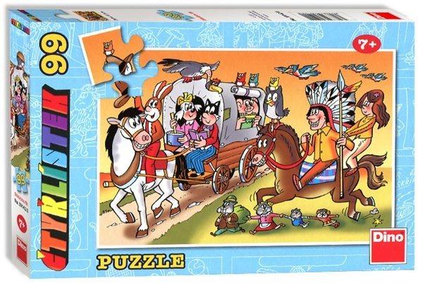 Dětské puzzle DINO 99 dílků - Čtyřlístek - dostavník