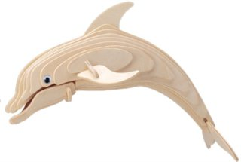 3D dřevěné puzzle Delfín H002