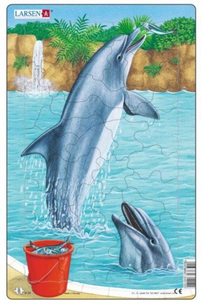 LARSEN Puzzle Delfíni 35 dílků