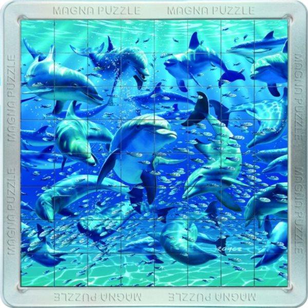 Piatnik 3D Magnetické puzzle Delfíni 64 dílků
