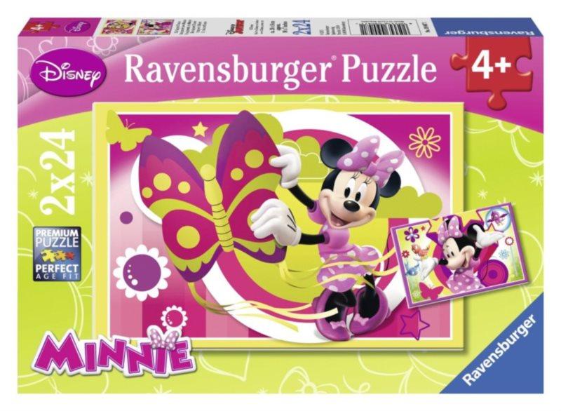 RAVENSBURGER Puzzle Den s Minnie 2x24 dílků