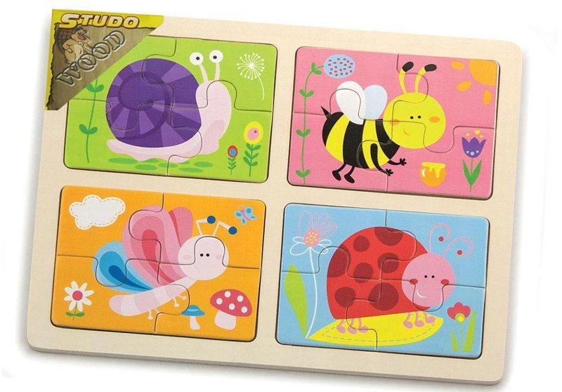STUDO WOOD Puzzle Hmyz 4x4