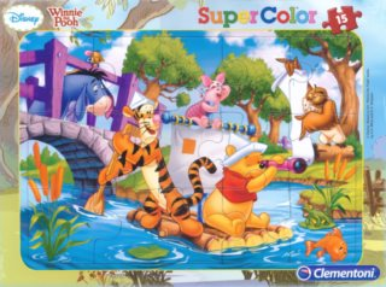 CLEMENTONI Puzzle Medvídek Pú: Na loďce 15 dílků