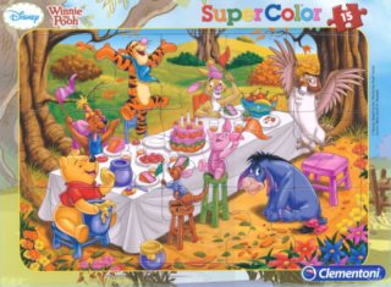 CLEMENTONI Puzzle Medvídek Pú: Oslava 15 dílků