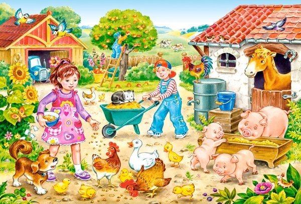 CASTORLAND Puzzle Farma MAXI 40 dílků