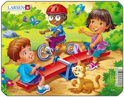 LARSEN Puzzle Dětské hřiště 7 dílků