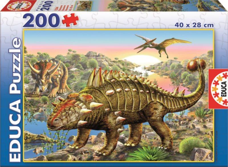 EDUCA Puzzle Dinosauři 200 dílků