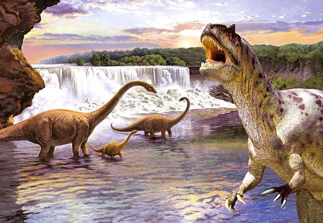 CASTORLAND Puzzle Dinosauři - Diplodocus 260 dílků