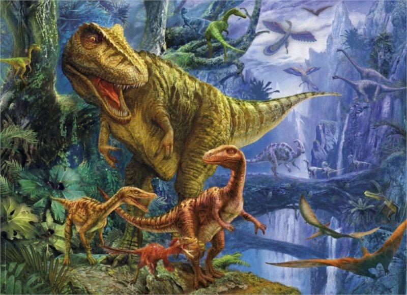 Puzzle + 3D brýle CLEMENTONI 1000 dílků - Dinosauří údolí