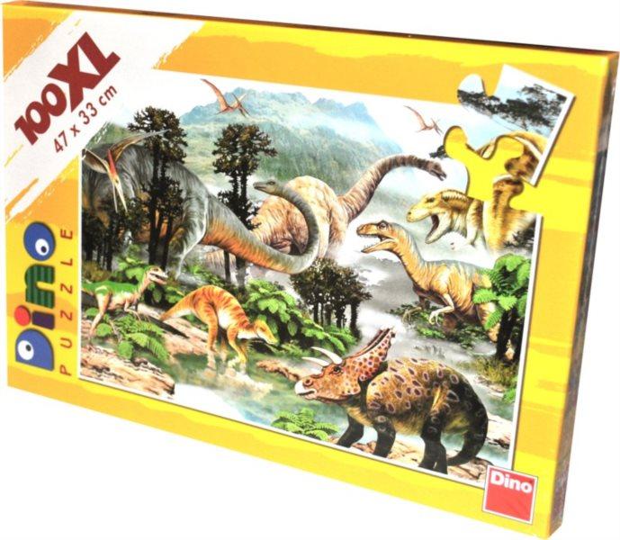 Dětské puzzle DINO 100 dílků - Dinosauři XL