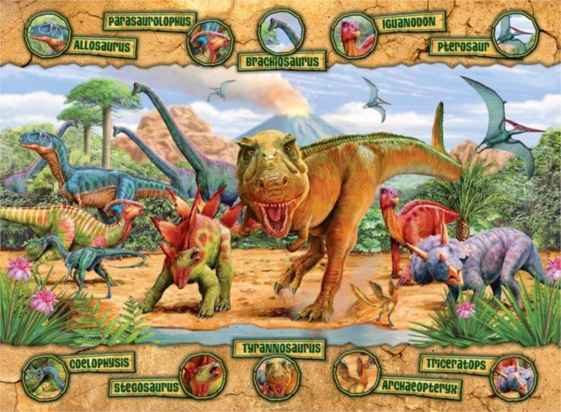 RAVENSBURGER Puzzle Dinosauři XXL 100 dílků