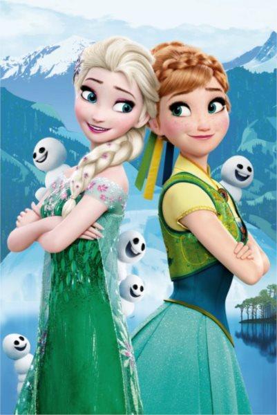Dětské puzzle DINO 54 dílků Disney pohádky: Anna a Elsa