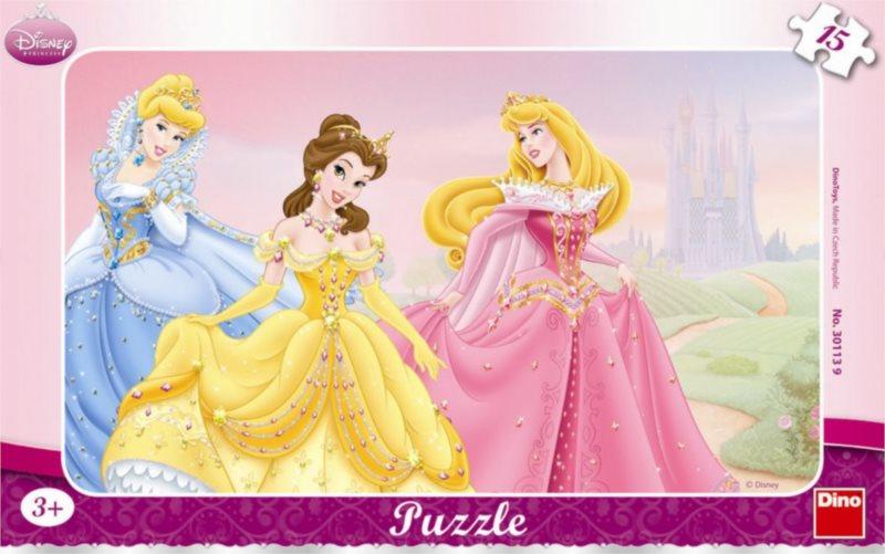 DINO Puzzle Disney Princezny 15 dílků