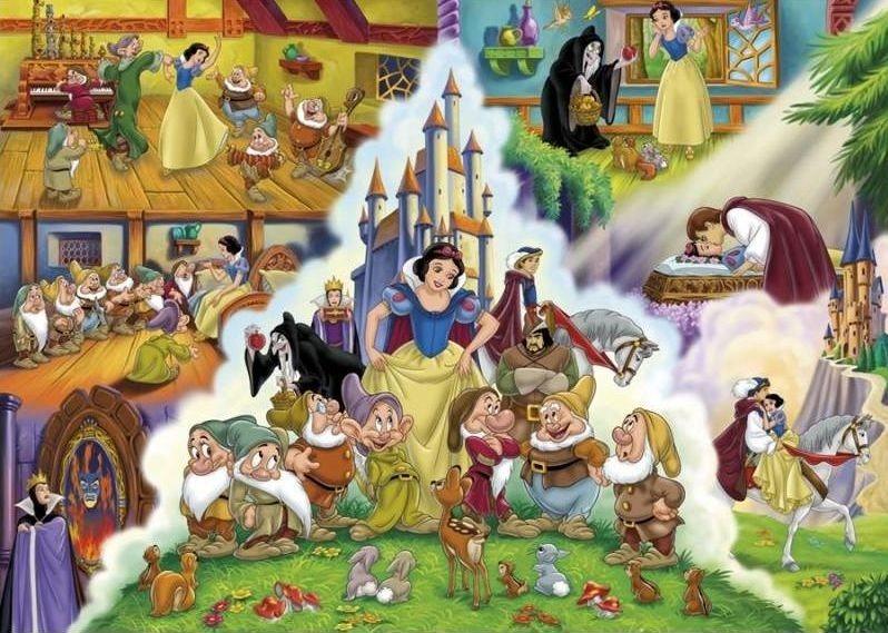 CLEMENTONI puzzle Princezny O Sněhurce 60 dílků
