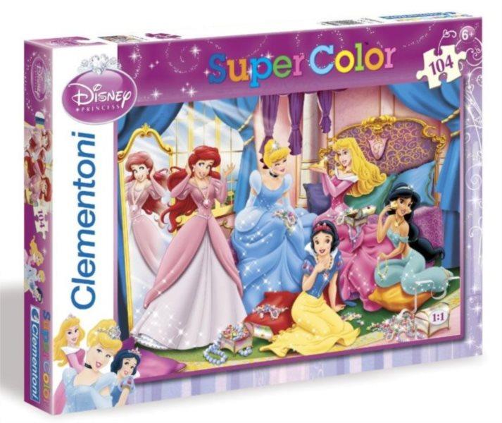 CLEMENTONI Puzzle Disney Princezny: Potěšení ze šperků 104 dílků