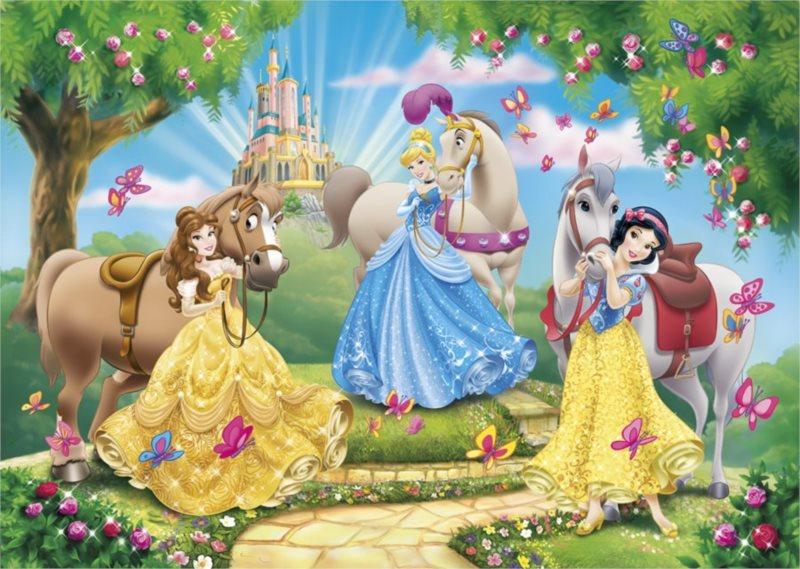 Dětské MAXI puzzle - Disney princezny: Princezny a koně 24 dílků