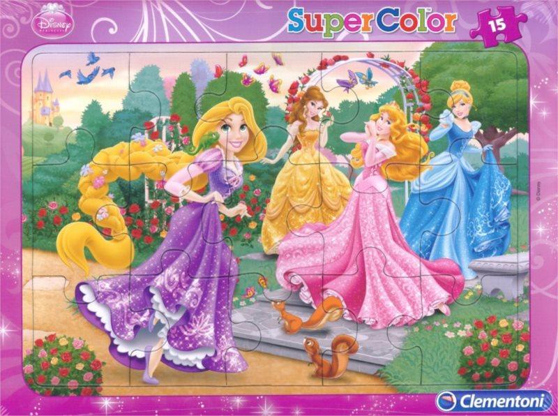 CLEMENTONI Puzzle Disney Princezny: V zahradě 15 dílků