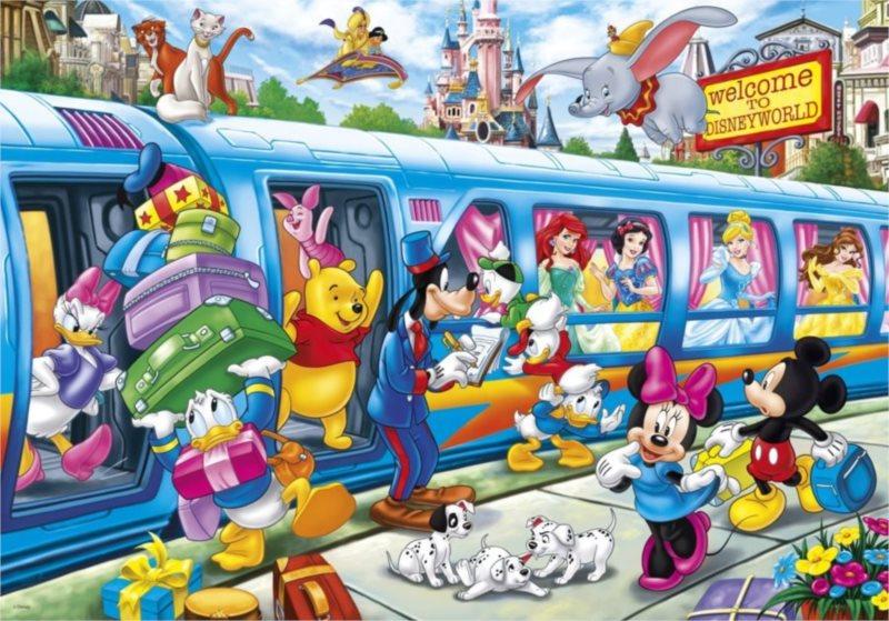 CLEMENTONI Puzzle Disney vlak 104 dílků