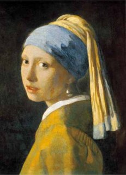 Puzzle EDITIONS RICORDI 1000 dílků - Vermeer, Dívka s perlovou náušnicí