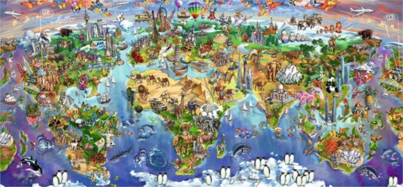 RAVENSBURGER Puzzle Divy světa 2000 dílků