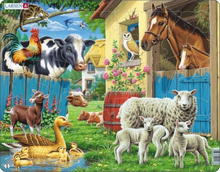 LARSEN Puzzle Domácí zvířata 23 dílků