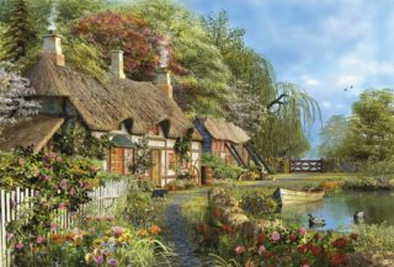 poškozený obal: EDUCA 16323 Domov mezi květinami - puzzle 4000 dílků, D.Davison