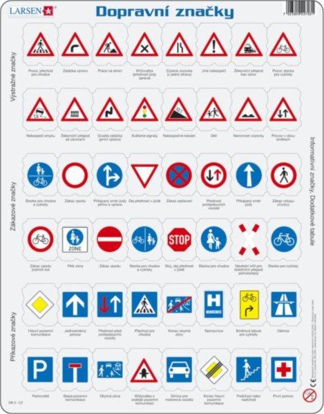 Vzdělávací puzzle LARSEN 48 dílků - Dopravní značky