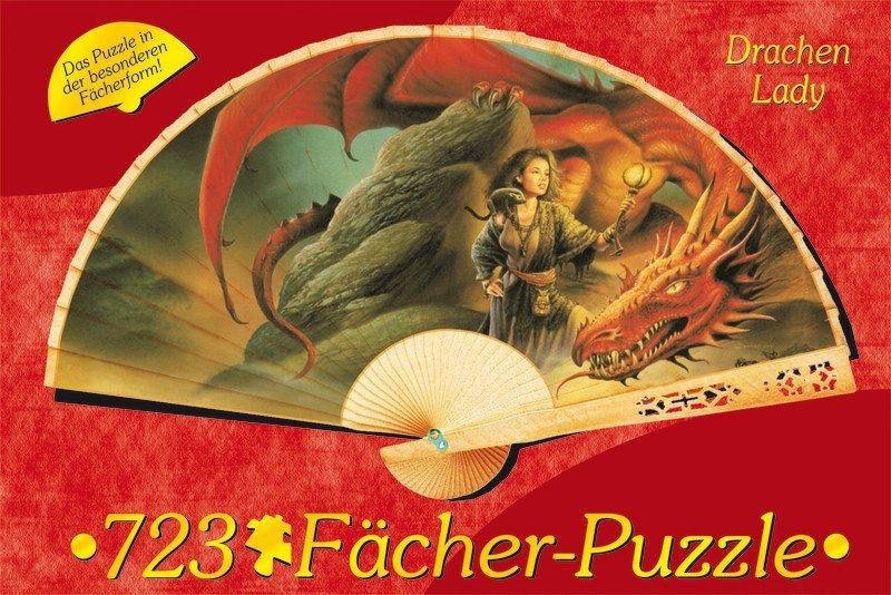 M.I.C. Puzzle vějíř Dračí dáma 723 dílků