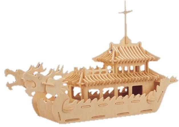 WOODEN TOY , WCK 3D puzzle Dračí loď