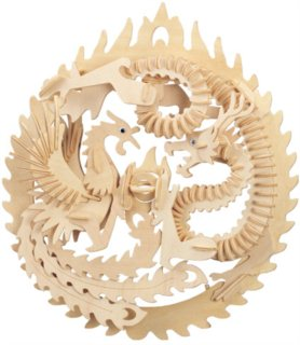 WOODEN TOY , WCK 3D puzzle Drak a fénix