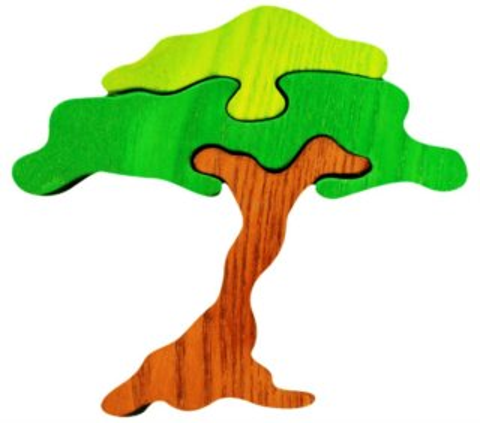 FAUNA Dřevěné puzzle Akácie malá
