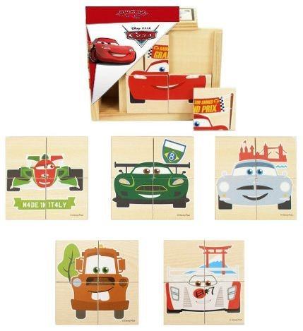 Dřevěné puzzle 6v1 Auta ( Cars) 6x4 dílky