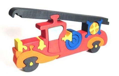 FAUNA Dřevěné puzzle Hasičské auto velké